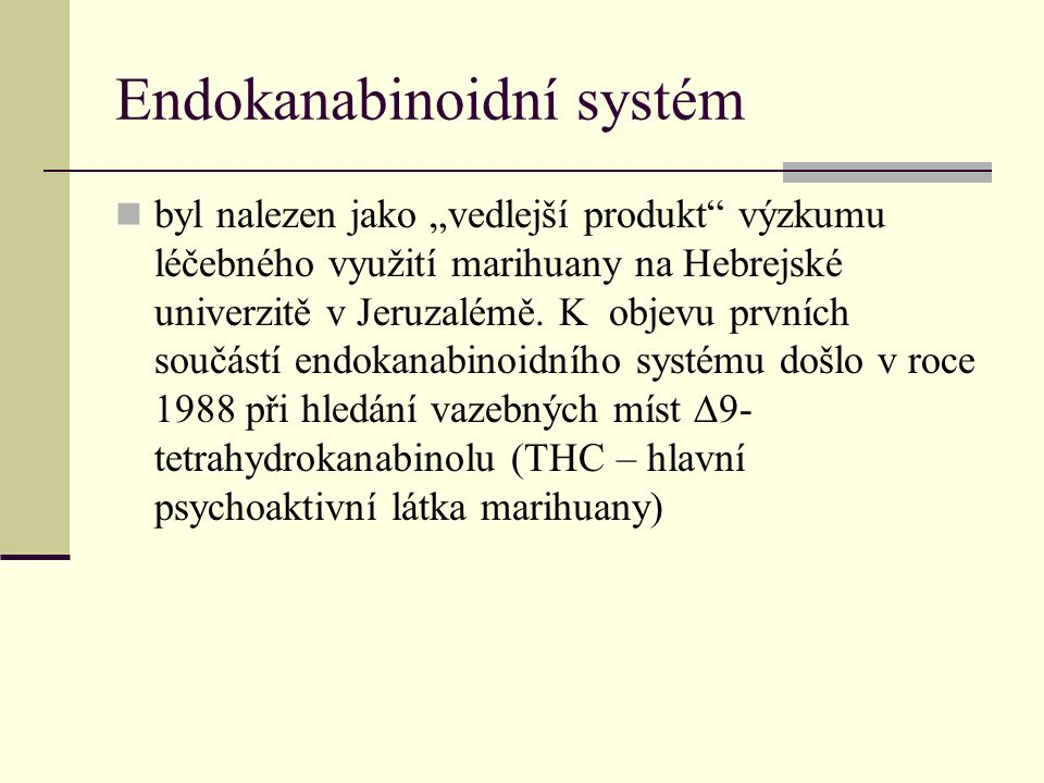 Endokanabinoidní systém
