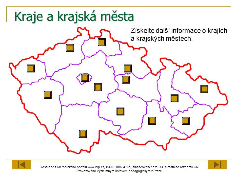 Kraje a krajská města Získejte další informace o krajích a krajských městech.