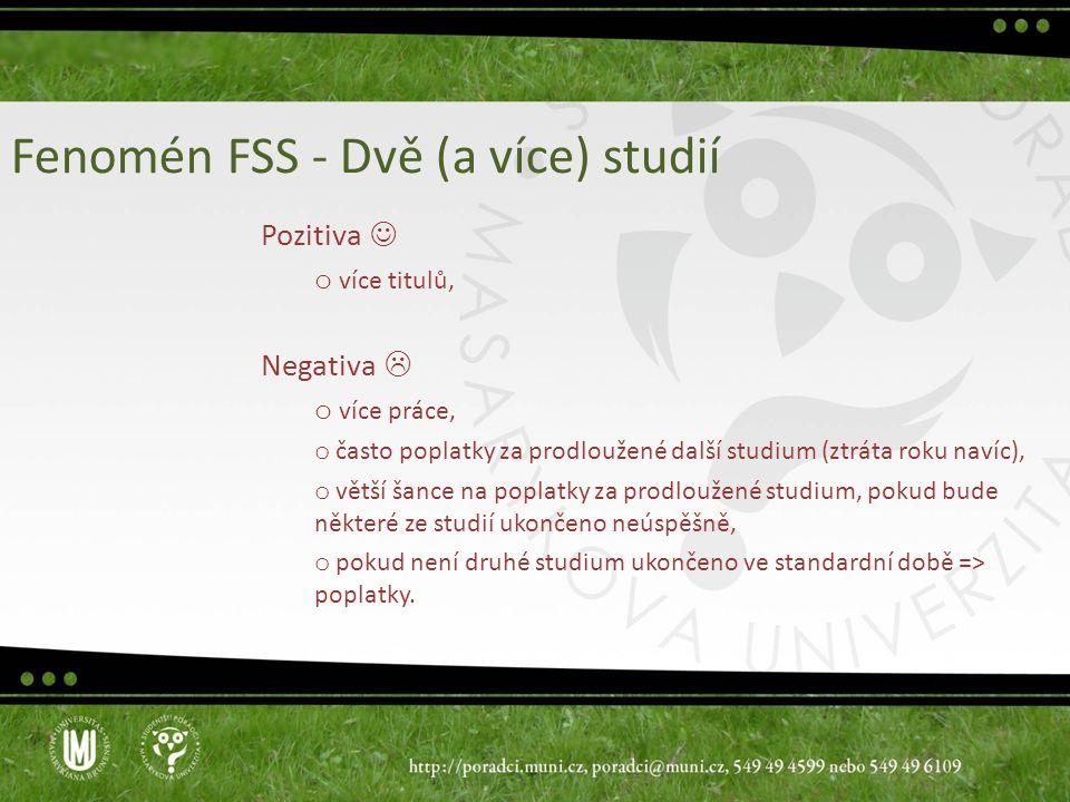 Fenomén FSS - Dvě (a více) studií