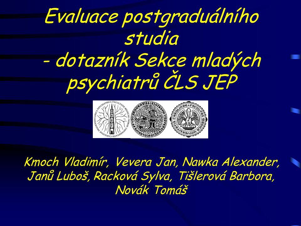 Evaluace postgraduálního studia - dotazník Sekce mladých psychiatrů ČLS JEP