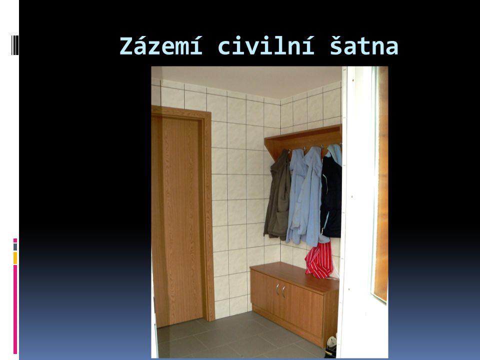 Zázemí civilní šatna
