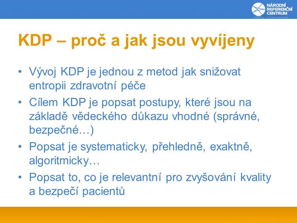KDP – proč a jak jsou vyvíjeny