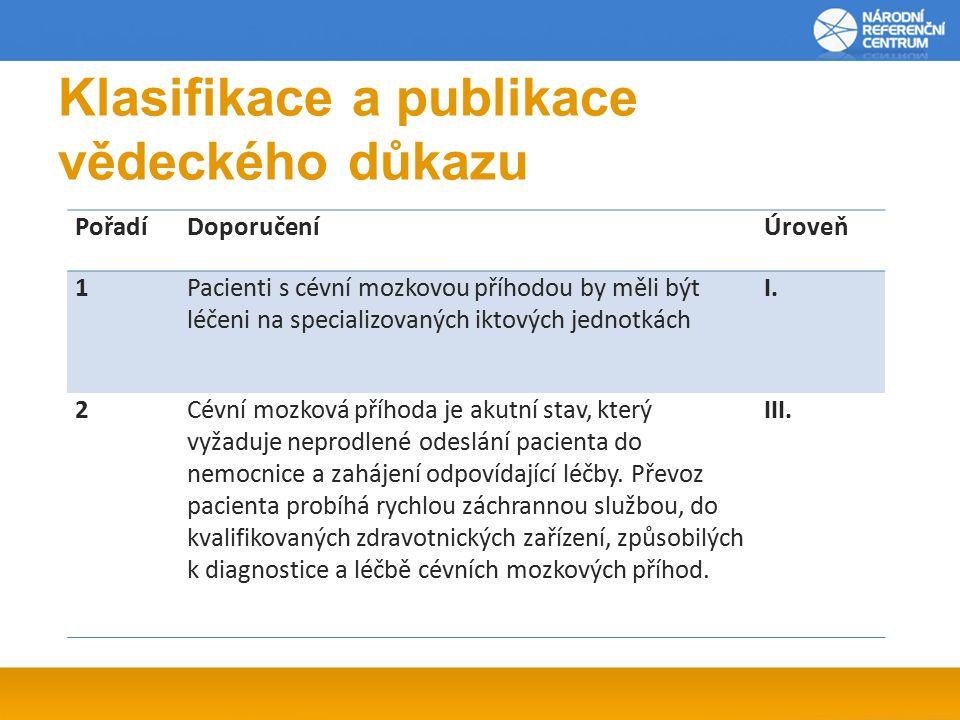 Klasifikace a publikace vědeckého důkazu