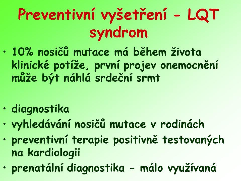 Preventivní vyšetření - LQT syndrom