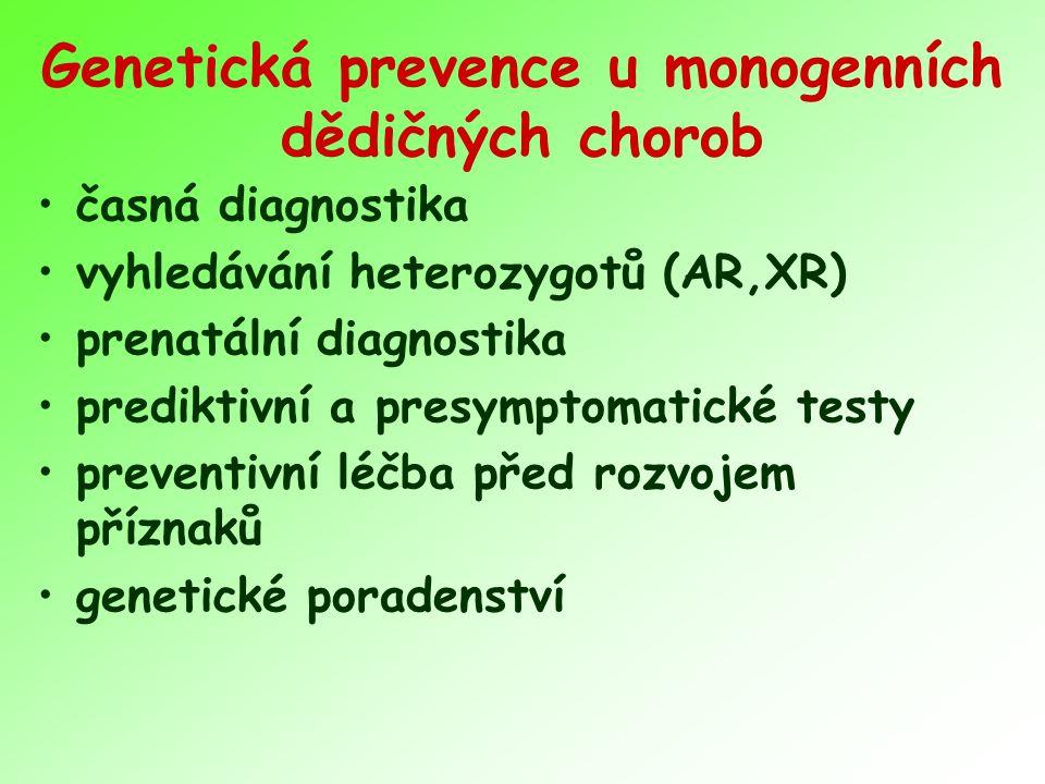 Genetická prevence u monogenních dědičných chorob