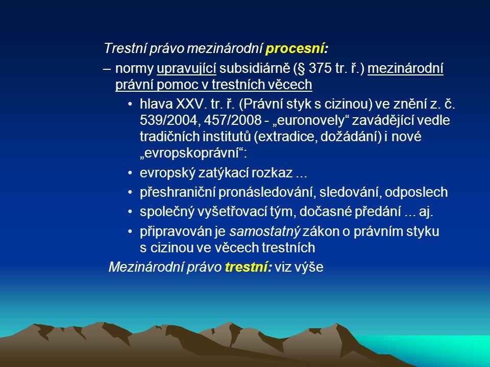 Trestní právo mezinárodní procesní: