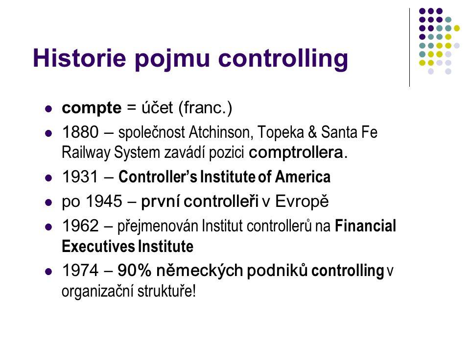 Historie pojmu controlling