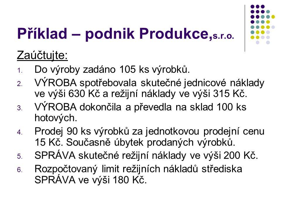 Příklad – podnik Produkce,s.r.o.