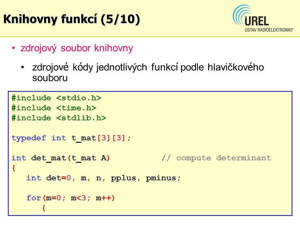 zdrojový soubor knihovny matops.c