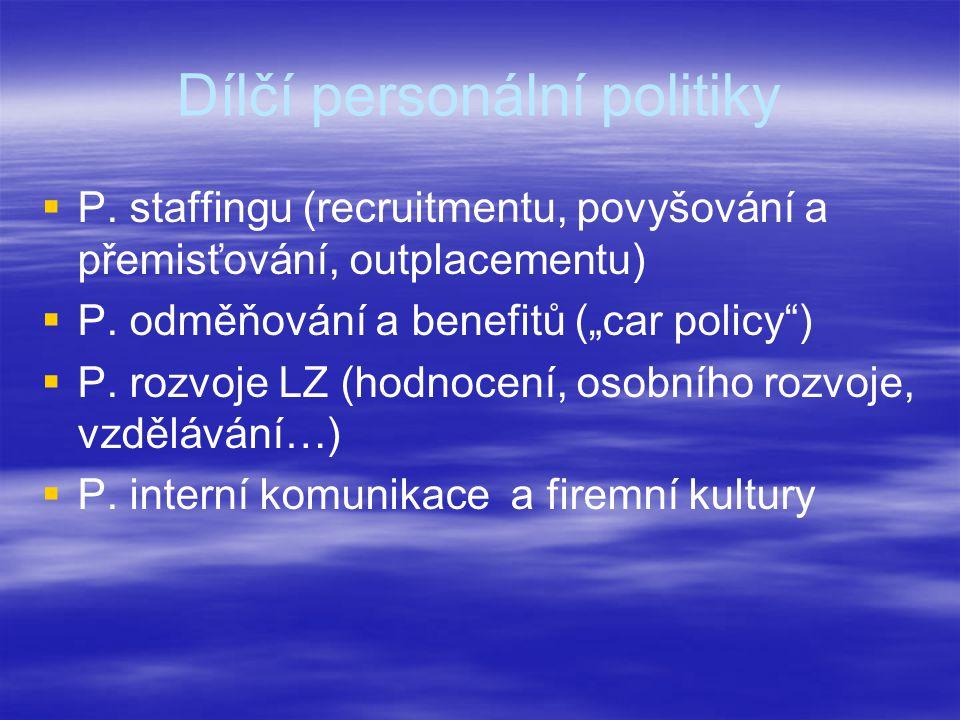Dílčí personální politiky