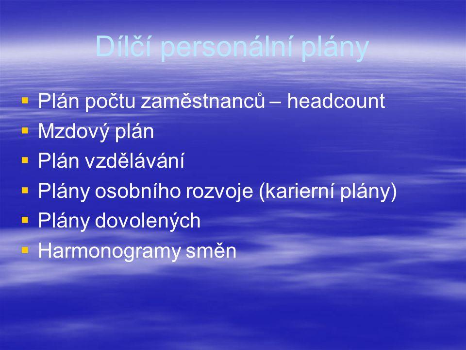 Dílčí personální plány