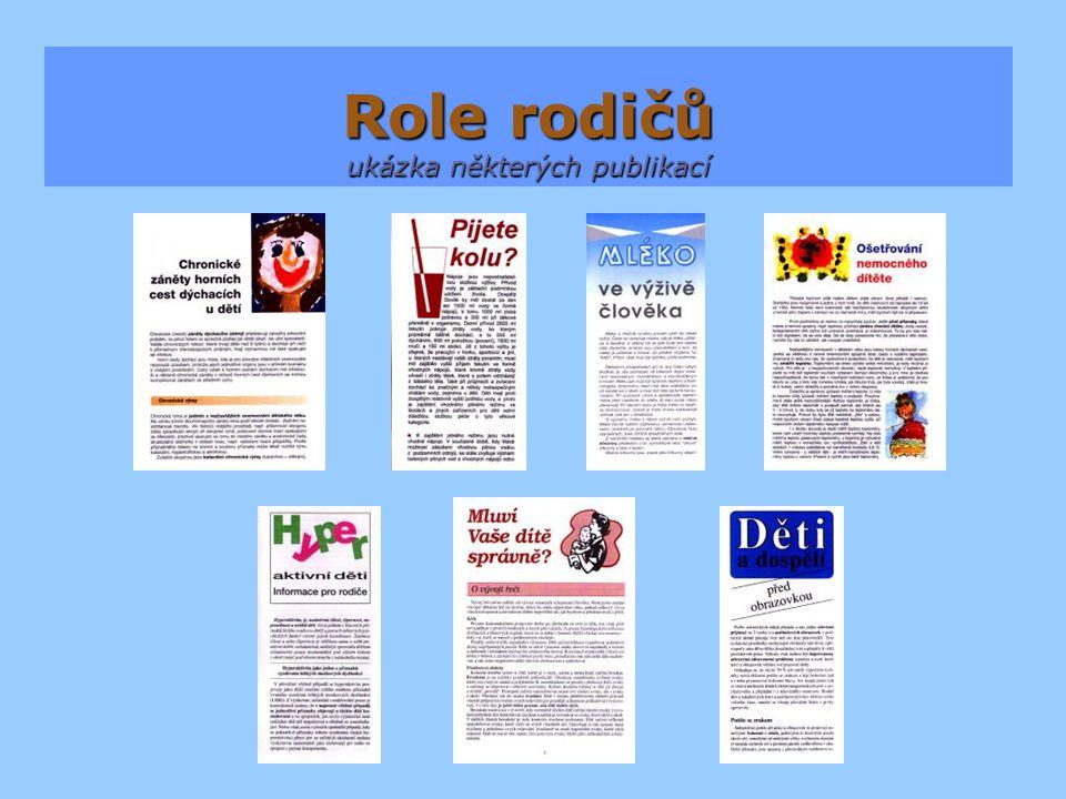 Role rodičů ukázka některých publikací