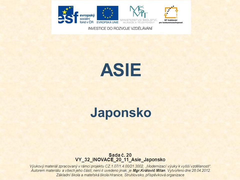 VY_32_INOVACE_20_11_Asie_Japonsko