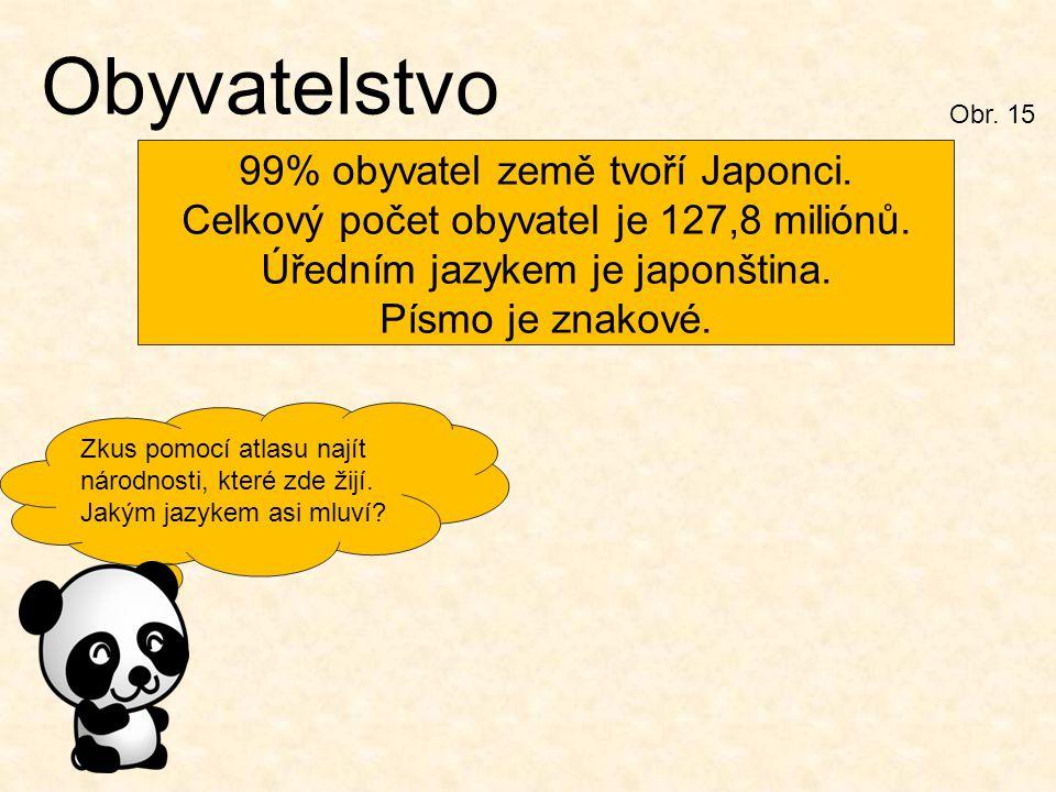 Obyvatelstvo 99% obyvatel země tvoří Japonci.