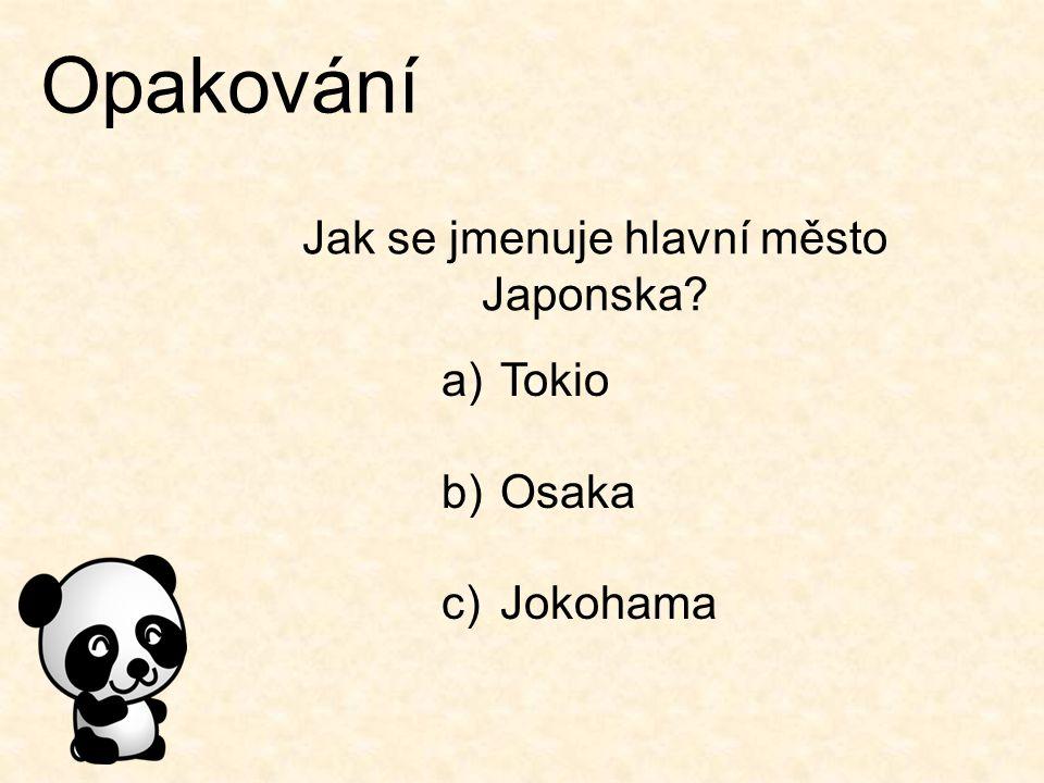 Jak se jmenuje hlavní město Japonska