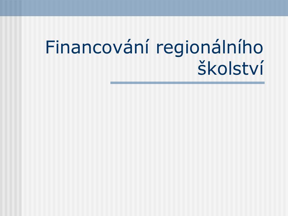 Financování regionálního školství