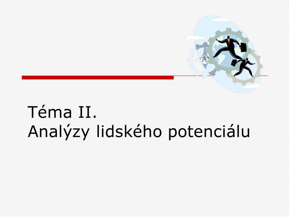 Téma II. Analýzy lidského potenciálu