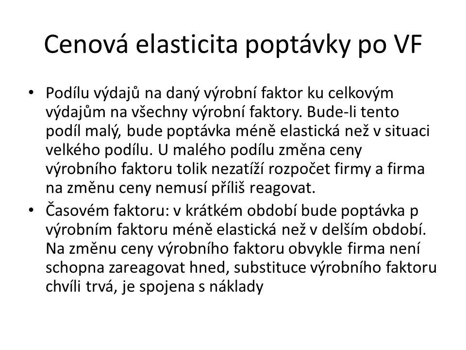 Cenová elasticita poptávky po VF