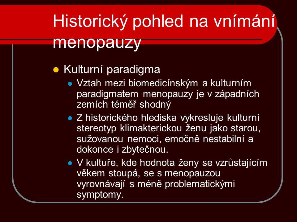 Historický pohled na vnímání menopauzy