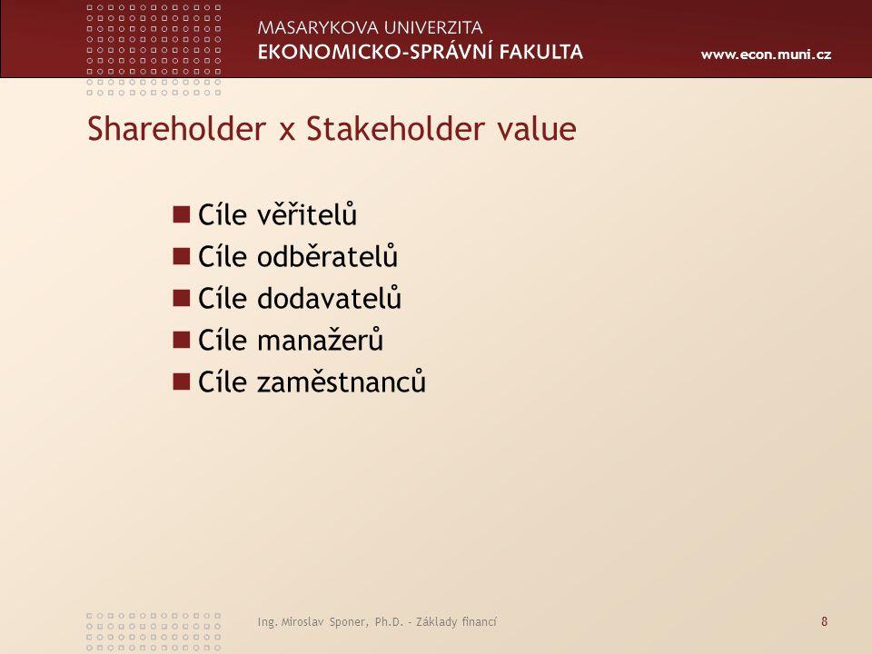 Shareholder x Stakeholder value