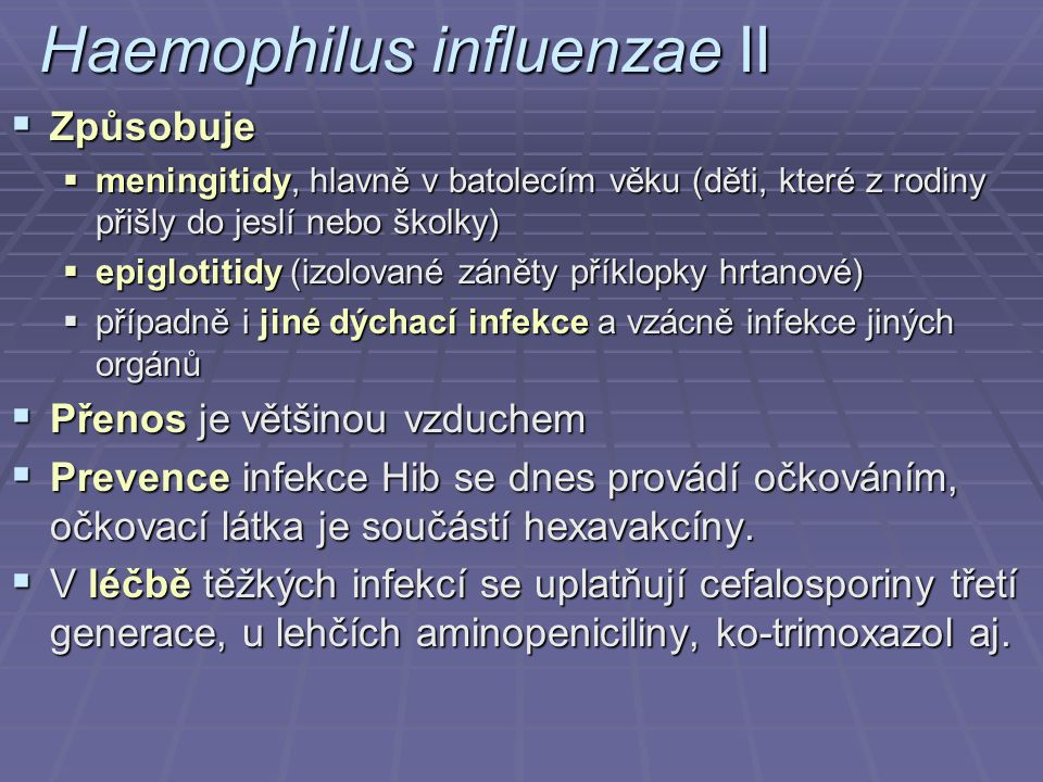 Haemophilus influenzae II