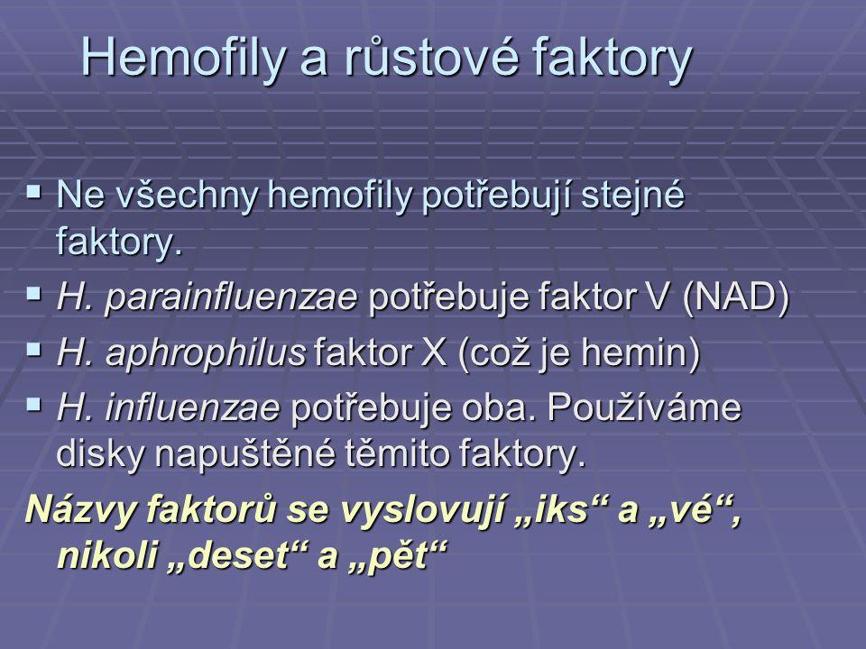 Hemofily a růstové faktory