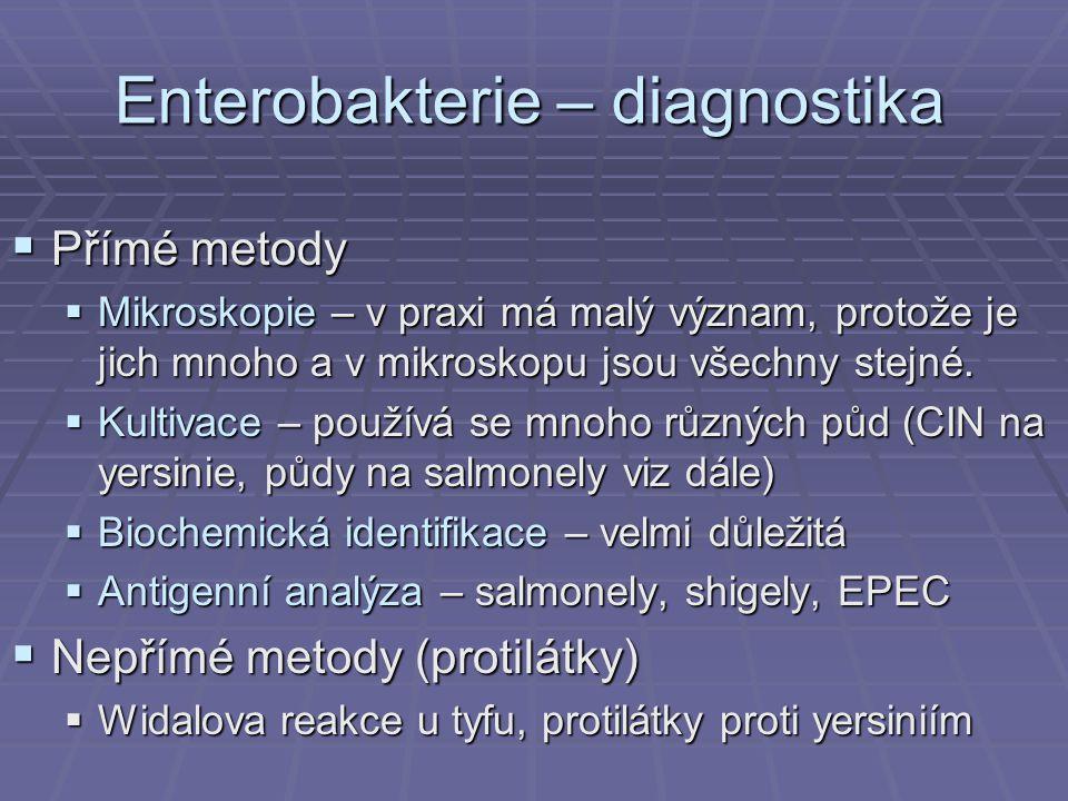 Enterobakterie – diagnostika
