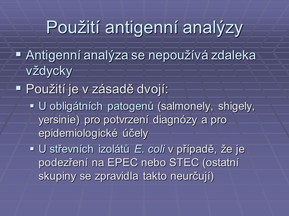 Použití antigenní analýzy