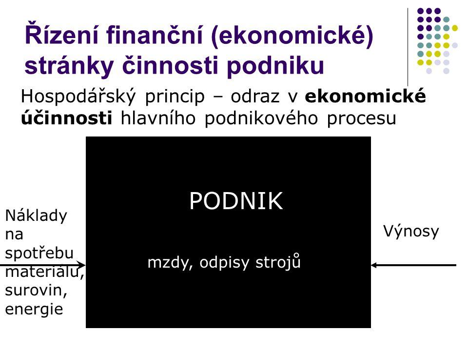 Řízení finanční (ekonomické) stránky činnosti podniku
