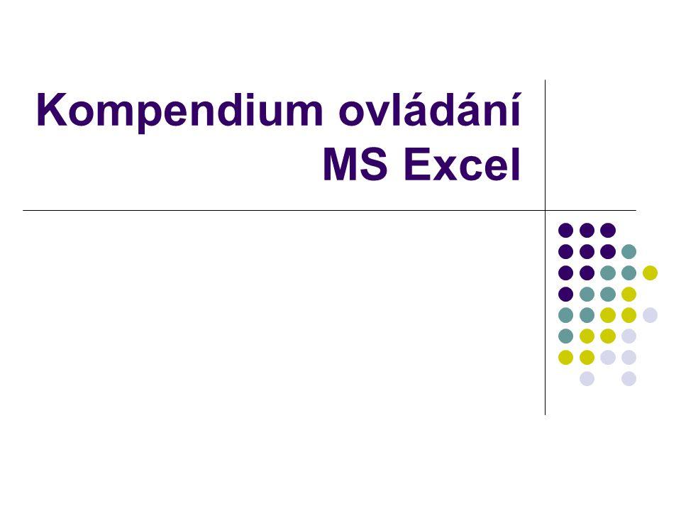 Kompendium ovládání MS Excel