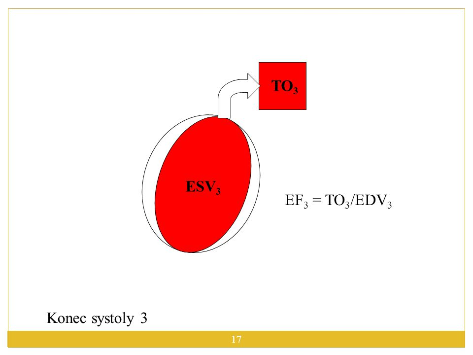 TO3 ESV3 EF3 = TO3/EDV3 Konec systoly 3
