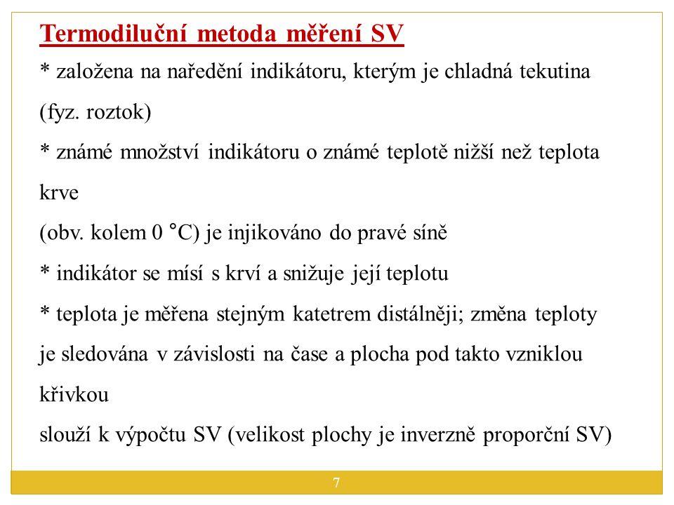 Termodiluční metoda měření SV