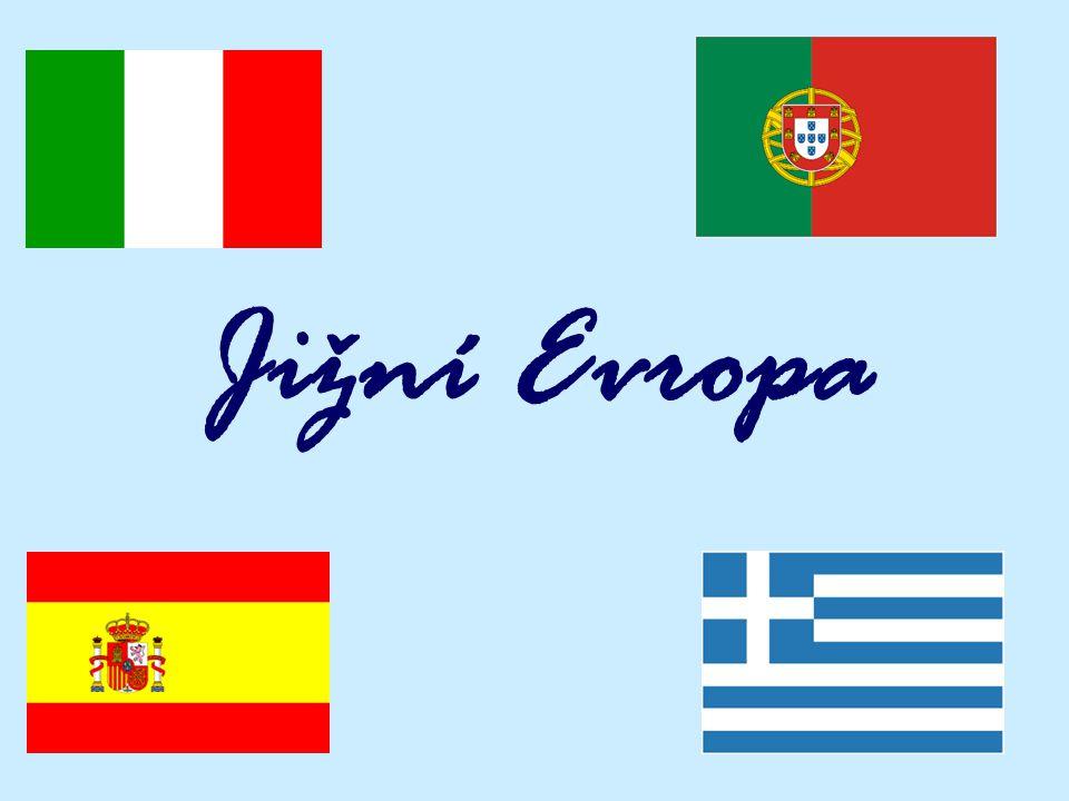 Itálie Portugalsko Jižní Evropa Španélsko Recko