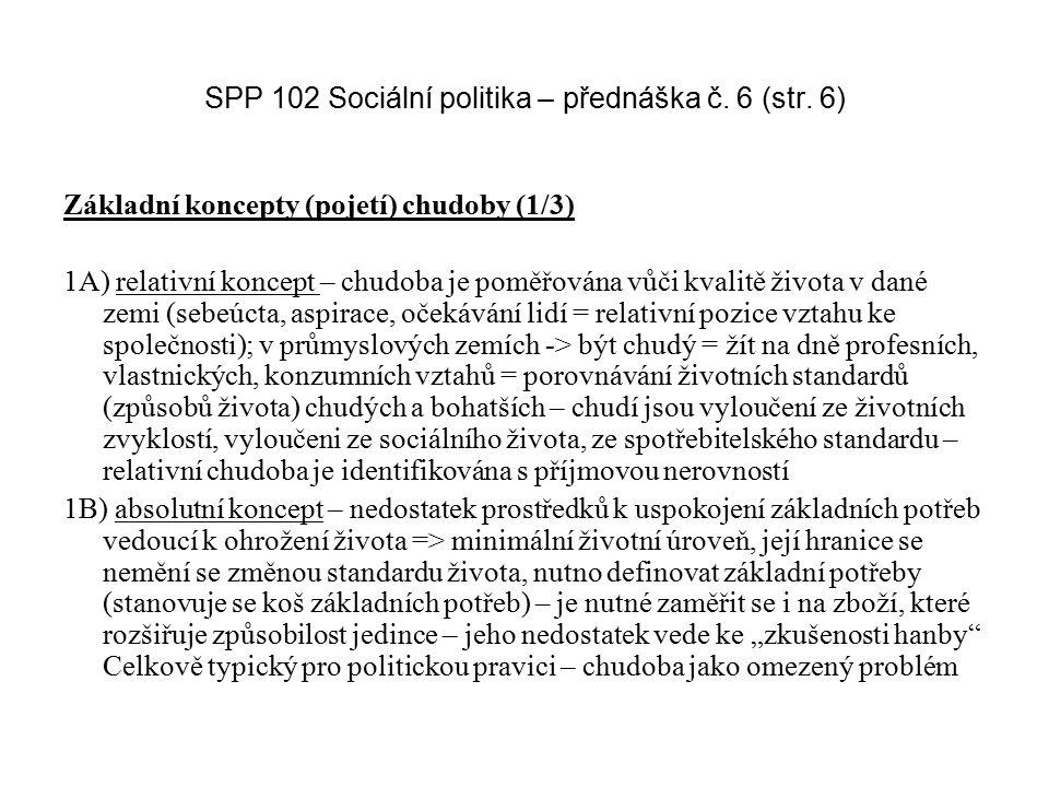 SPP 102 Sociální politika – přednáška č. 6 (str. 6)