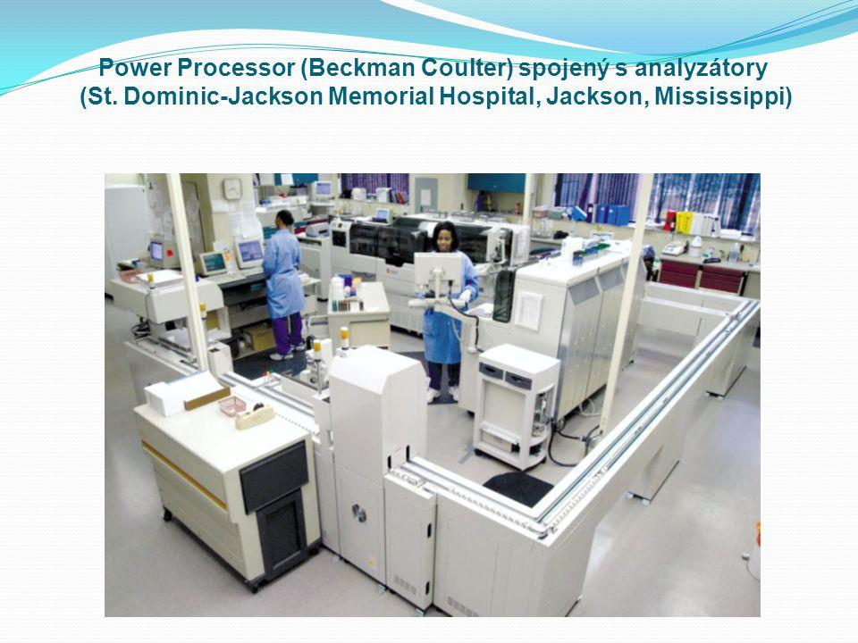 Power Processor (Beckman Coulter) spojený s analyzátory