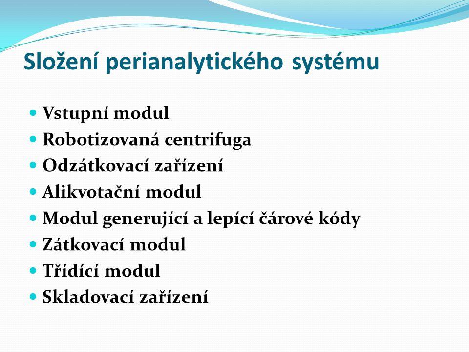 Složení perianalytického systému