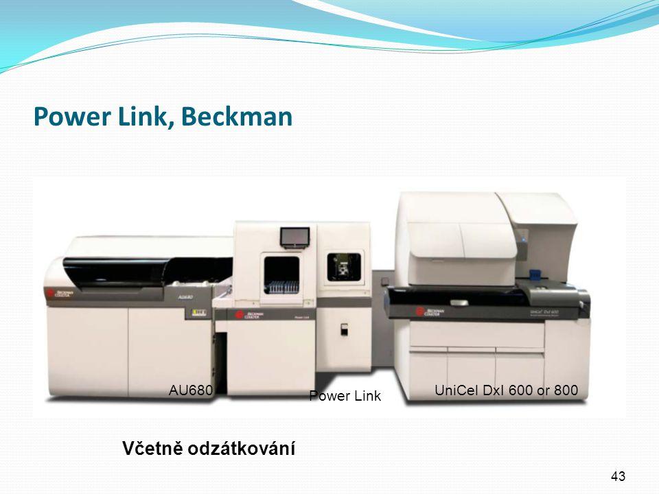 Power Link, Beckman Včetně odzátkování AU680 UniCel DxI 600 or 800