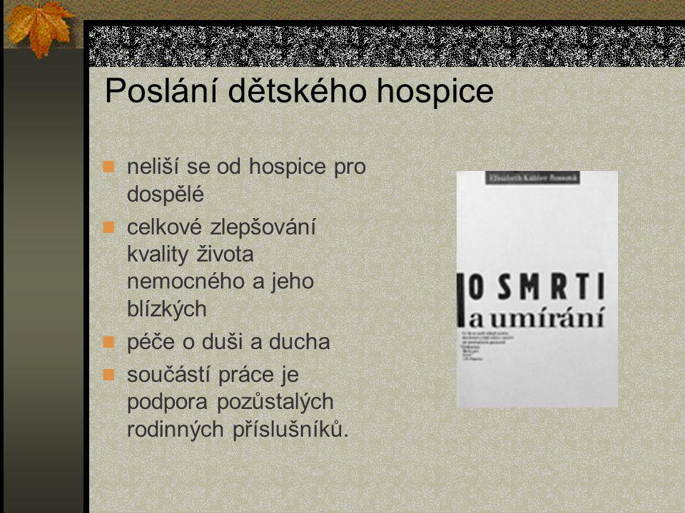 Poslání dětského hospice