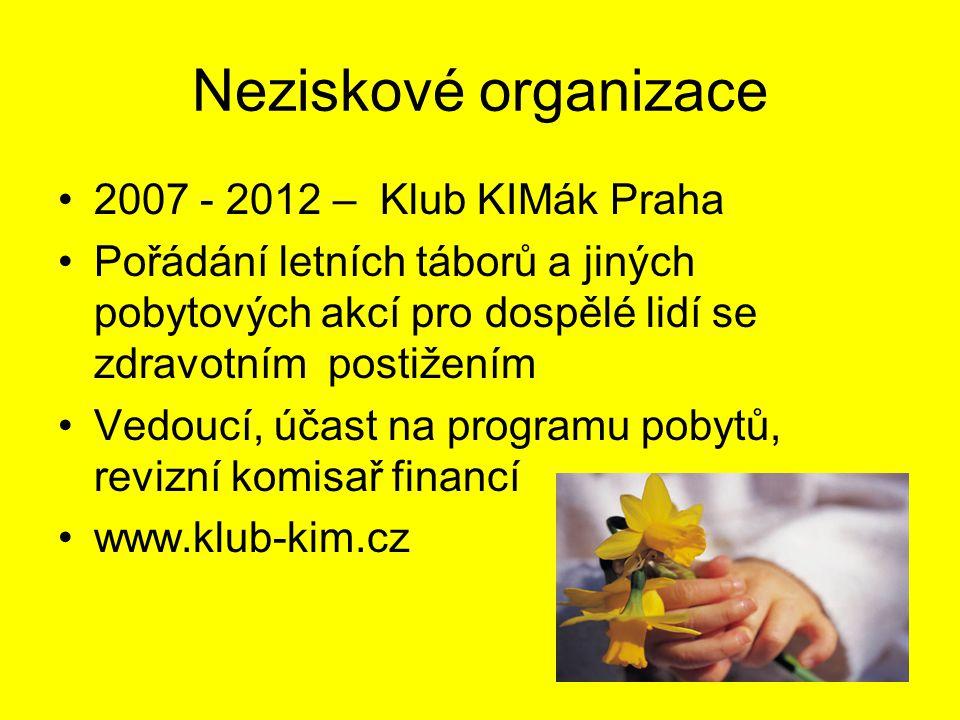 Neziskové organizace 2007 - 2012 – Klub KIMák Praha