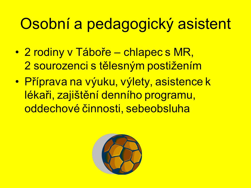 Osobní a pedagogický asistent
