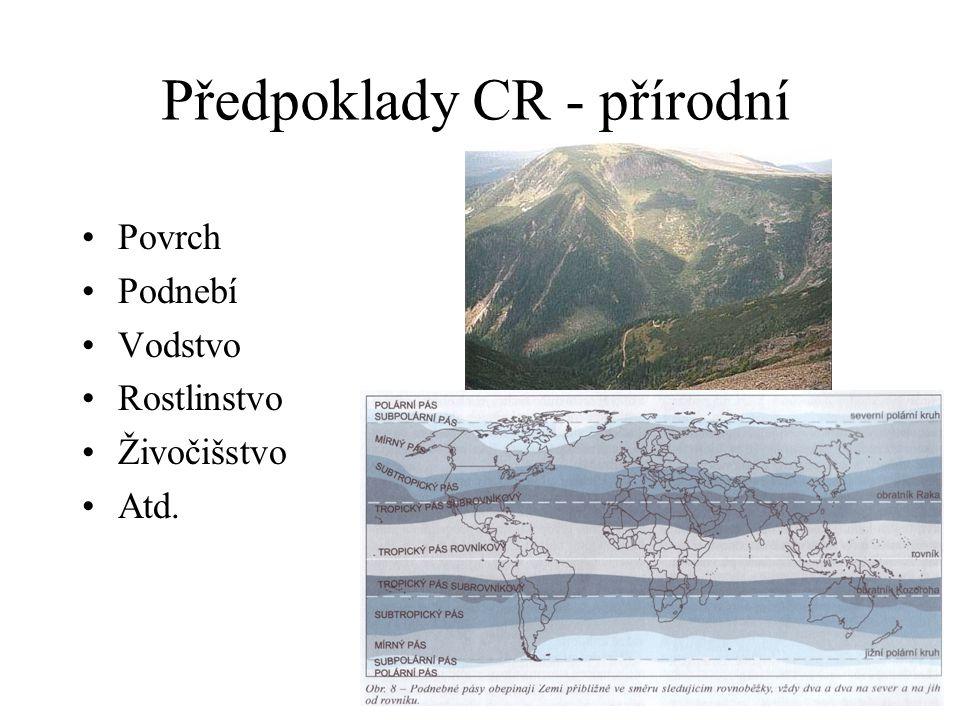 Předpoklady CR - přírodní