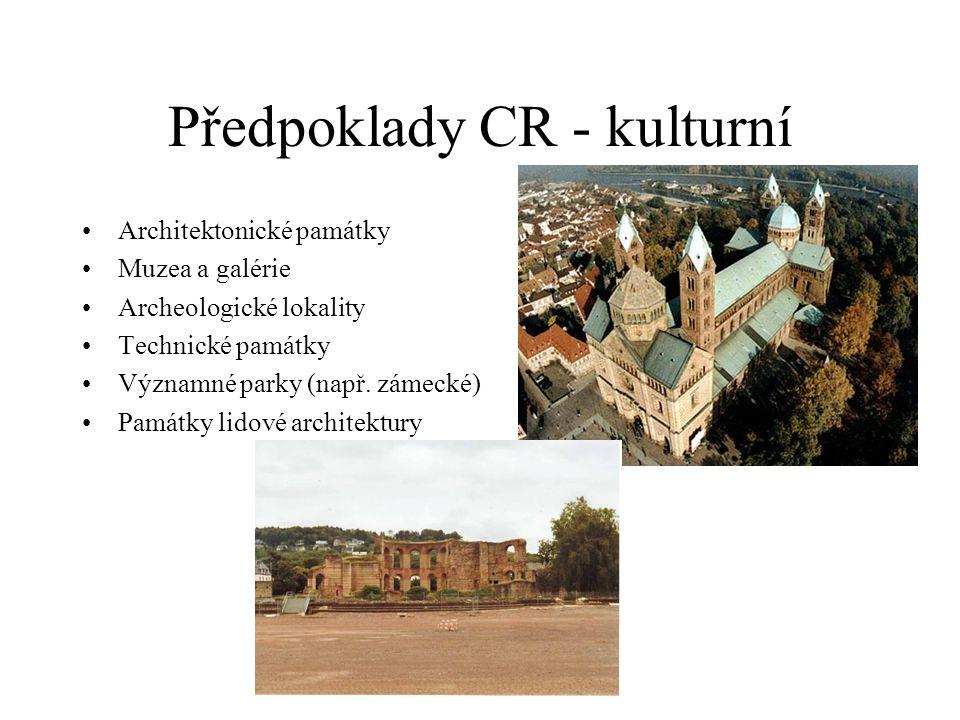 Předpoklady CR - kulturní
