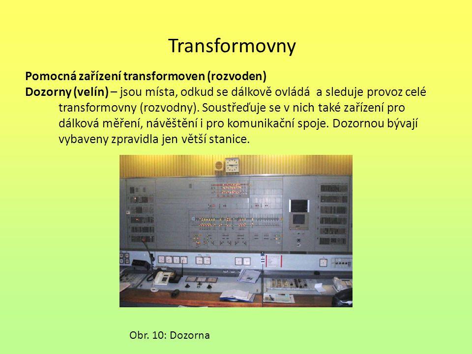 Transformovny Pomocná zařízení transformoven (rozvoden)