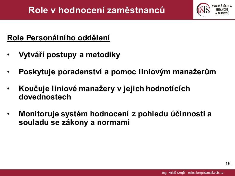 Role v hodnocení zaměstnanců