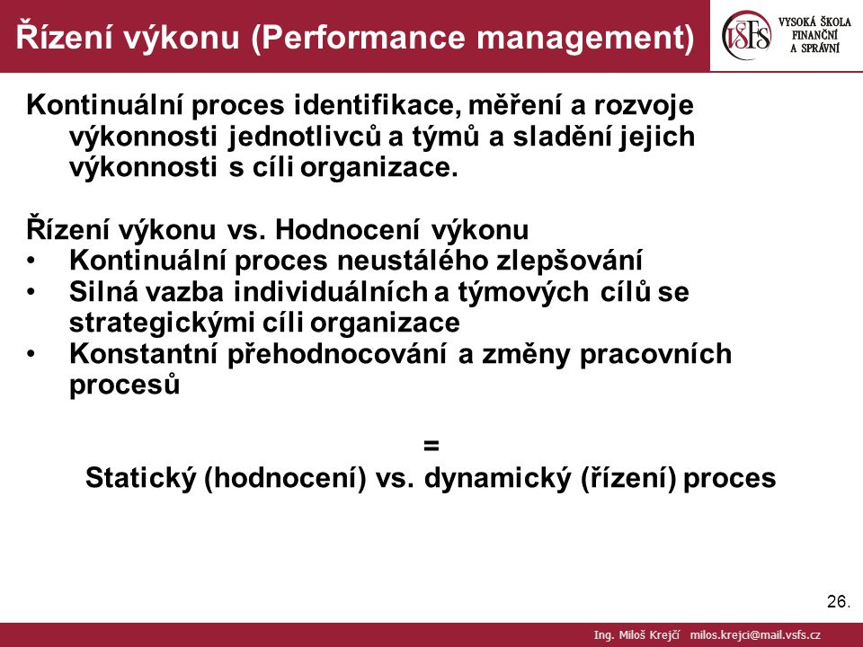 Řízení výkonu (Performance management)