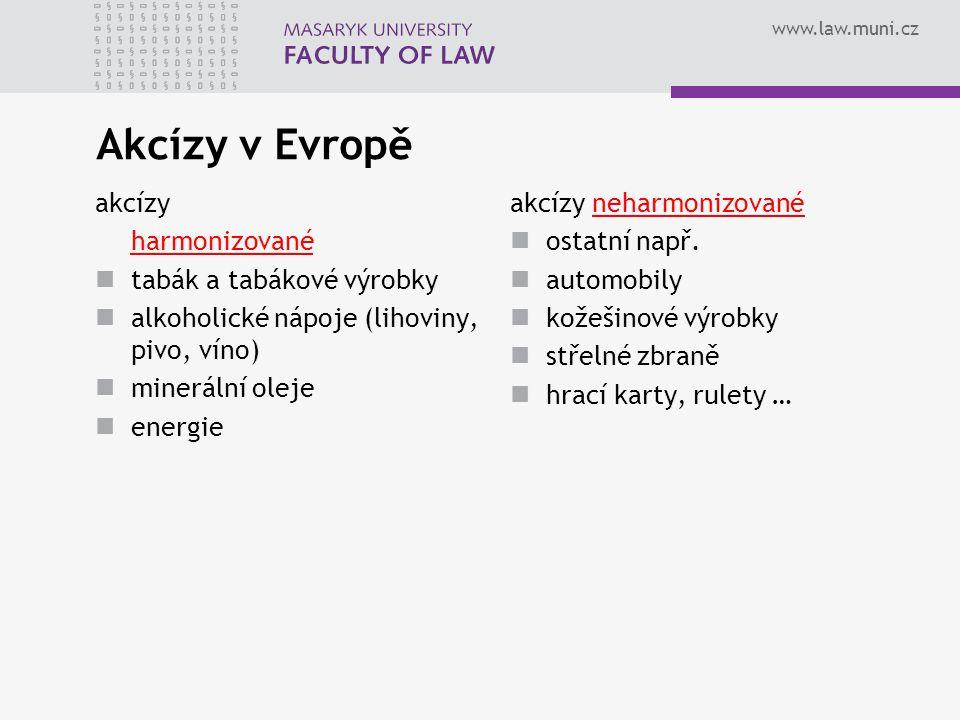 Akcízy v Evropě akcízy harmonizované tabák a tabákové výrobky