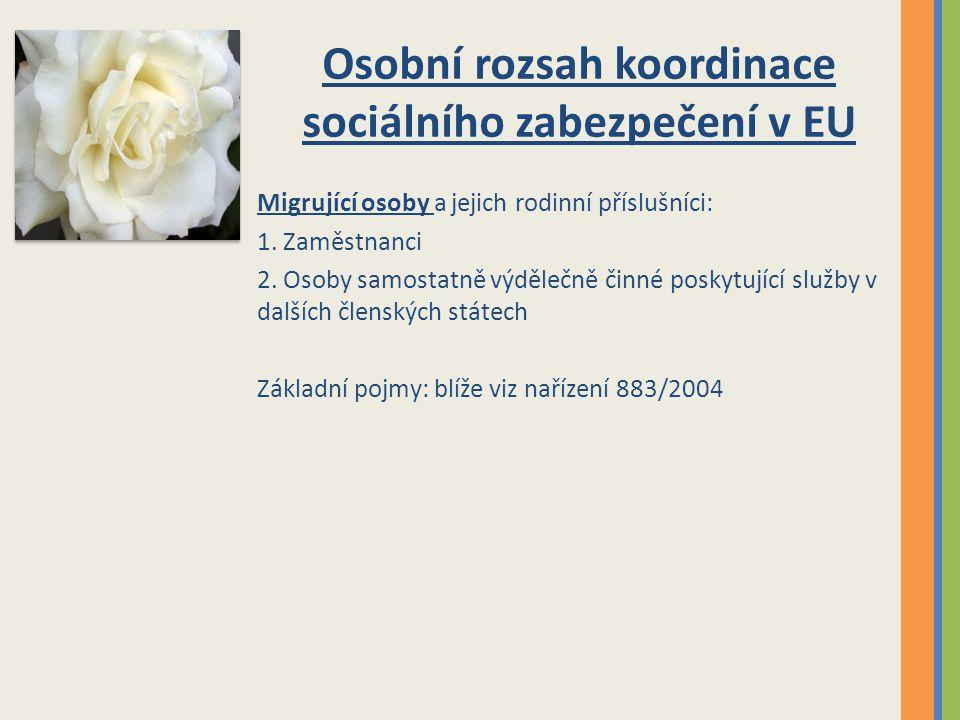 Osobní rozsah koordinace sociálního zabezpečení v EU