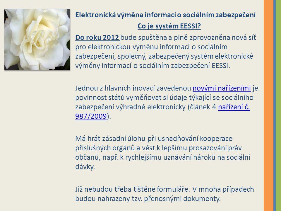 Elektronická výměna informací o sociálním zabezpečení
