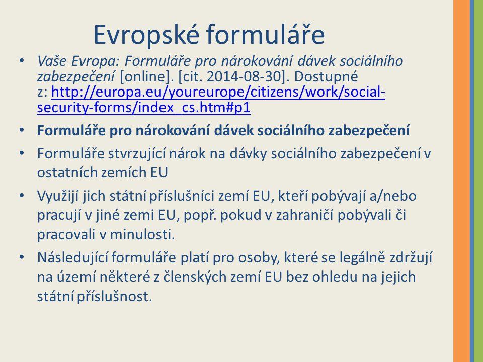 Evropské formuláře