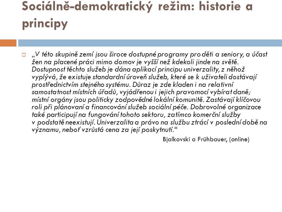 Sociálně-demokratický režim: historie a principy